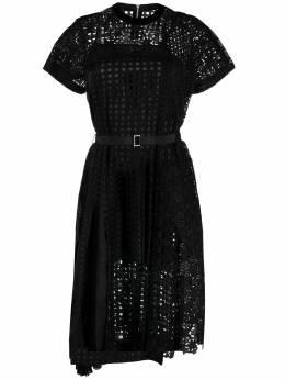 Sacai платье с английской вышивкой 2105464