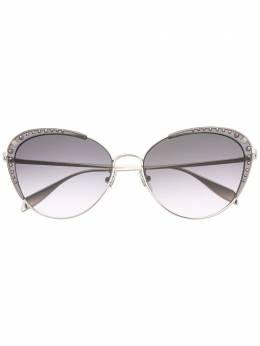 Alexander McQueen Eyewear солнцезащитные очки в оправе 'кошачий глаз' с заклепками 649819I3330