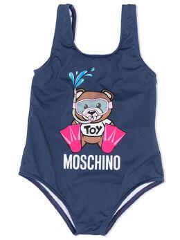 Moschino Kids купальник с логотипом MEL00ALKA00