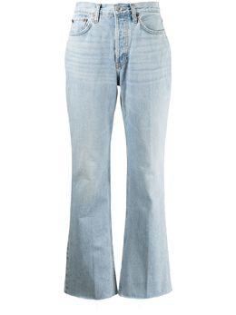 Re/Done джинсы с завышенной талией и эффектом потертости 1403W7BC