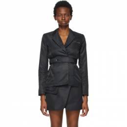 1017 Alyx 9Sm Black Nylon Belted Blazer AAWTA0063FA01.S21