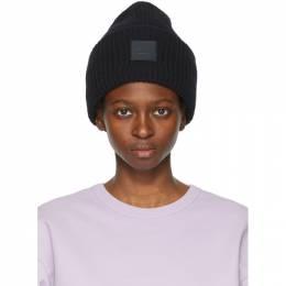 Acne Studios Black Wool Patch Beanie C40135-