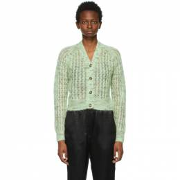 Acne Studios Green Mohair Cropped Cardigan A60260-