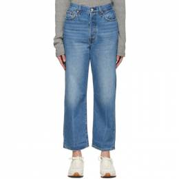 Levi's Blue Ribcage Straight Ankle Jeans 72693-0056