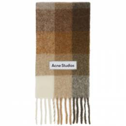 Acne Studios Beige and Brown Large Check Scarf CA0084-