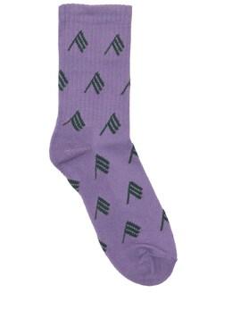 Носки Из Смешанного Хлопка С Логотипами The Attico 73IJ5Q009-MjAz0