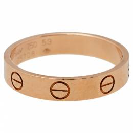 Cartier Love 18K Rose Gold Wedding Band Ring Size 53 394179