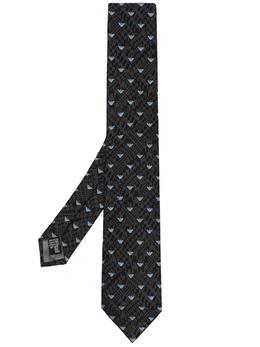 Emporio Armani жаккардовый галстук с логотипом 3400751P603