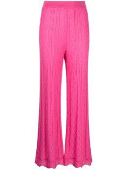 M Missoni трикотажные брюки с геометричным узором 2DI002742K008F