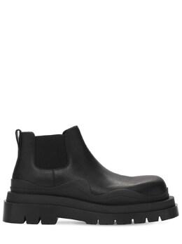 Bv Tire Leather Chelsea Mid Boots Bottega Veneta 73ID5P016-MTAyOQ2