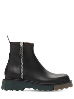 Ботинки Из Кожи Sponge Off-White 73IJS6005-MTAxMA2