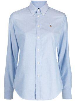 Polo Ralph Lauren рубашка оксфорд с вышитым логотипом 211743355