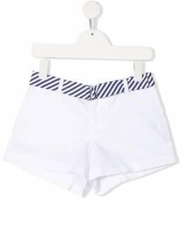 Ralph Lauren Kids шорты с поясом в полоску 313834890