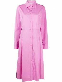 Nina Ricci длинное платье-рубашка 21PCRO005CO0539U2689