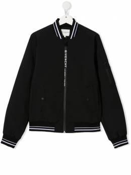 Givenchy Kids куртка с контрастными полосками H26071