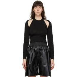 System Black Cut-Out Sweater SY2B1-KTOT02W