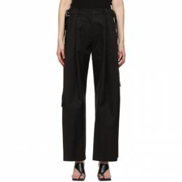 System Black Oversized Pleated Trousers SY2B1-WPCT05WM