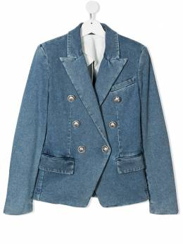 Balmain Kids двубортный пиджак из денима 6M2084MD210