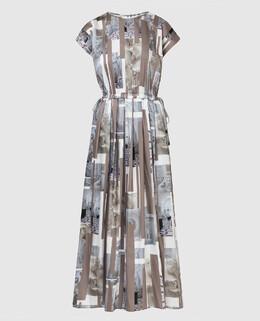 Бежевое платье Peserico 2300006728365