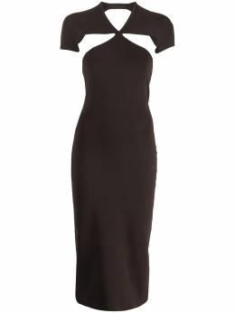 Khaite платье миди Piera с вырезами 8595400