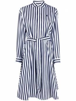 Polo Ralph Lauren платье-рубашка в полоску 211836475