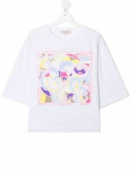 Emilio Pucci Junior футболка с абстрактным принтом 9O8191OC200