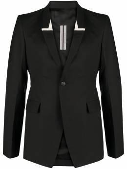 Rick Owens однобортный пиджак с лацканами-шалькой RU21S6738P