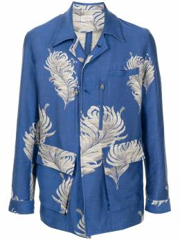 Bed J.W. Ford пиджак с цветочной вышивкой 21SSBIN011