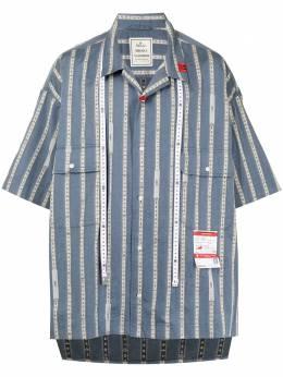 Maison Mihara Yasuhiro полосатая рубашка свободного кроя A06SH102