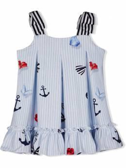 Lapin House полосатое платье с принтом 211E3273