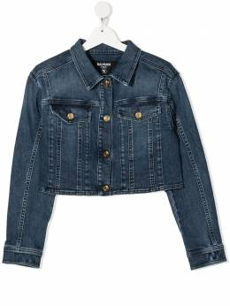 Balmain Kids TEEN faded-effect denim jacket 6O2120OA630