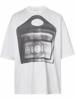 Burberry Pocket Bag-print cotton-jersey T-shirt 4567622