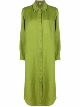 Aspesi платье-рубашка с накладным карманом H603G796