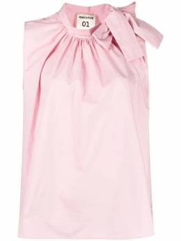 Semicouture bow-collar sleeveless blouse Y1SK01