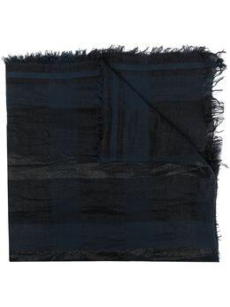 Fabiana Filippi клетчатый шарф с бахромой SAD271W4330000F323