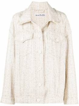 Acne Studios твидовая куртка-рубашка A90356