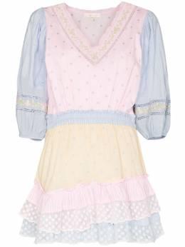 Loveshackfancy платье мини Consuela с пышными рукавами D1024755