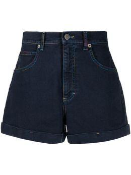 M Missoni джинсовые шорты с нашивкой-логотипом 2DI002852W006U