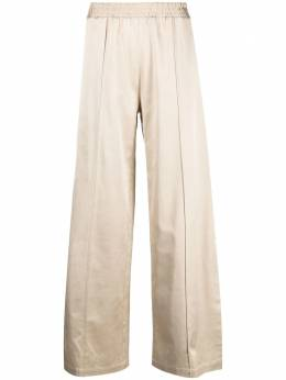 Semicouture slit detail wide-leg trousers Y1SQ01