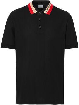 Burberry рубашка поло с контрастным воротником 8039265