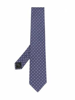 Brioni галстук с геометричным узором O61D00P0434