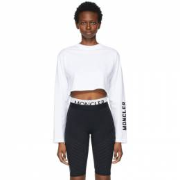 Moncler White Cropped Long Sleeve T-Shirt G10938D70610829HP