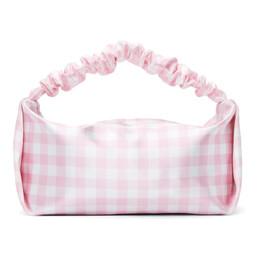 Alexander Wang Pink and White Check Mini Scrunchie Bag 20221R35T