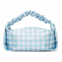 Alexander Wang Blue and White Check Mini Scrunchie Bag 20221R34T