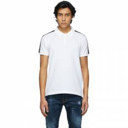 Dsquared2 White Leaf Tape Polo S74GL0050 S22743