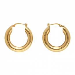 Jil Sander Gold Classic Hoop Earrings JSPS837173_WSS84002