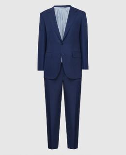 Синий костюм из шерсти и шелка Stefano Ricci 2300006665554