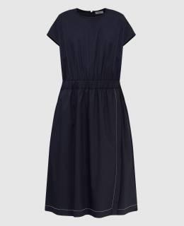 Темно-синее платье Peserico 2300006678158