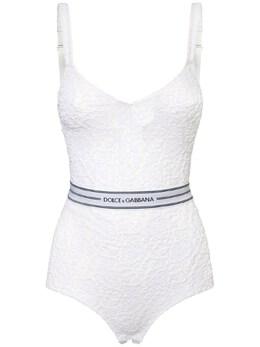 Эластичный Боди С Логотипом Dolce&Gabbana 73IG4F099-VzA4MDA1