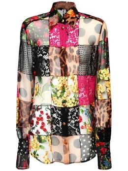 Блузка Из Крепдешина И Кружева Dolce&Gabbana 73IG4F004-UzkwMDA1